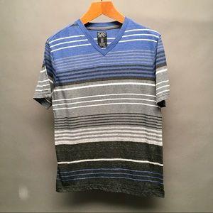 Point Zero Men's Shirt Medium Multi Color Stripes